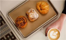 Main Line Pastries with Latte